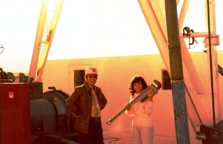 TD Barnes, President Barnes Petroluem Corporation - and secretary, Joy Hammond, Grand Junction, Colorado 1980
