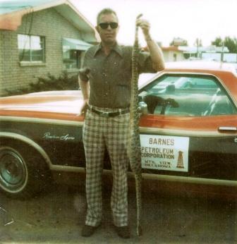 TD Barnes, President Barnes Petroleum Corporation at Mt. View, Oklahoma