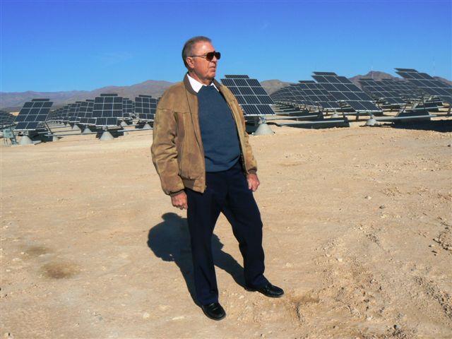 TD Barnes viewing Nellis AFB solar array