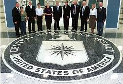 TD and Doris Barnes with Roadrunners Associates at CIA Headquarters September 2007