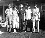 1957: Dad, mom, me, Dale, and Darvin