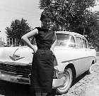 1955 - Doris and our Chevy she purchased while I was in Korea